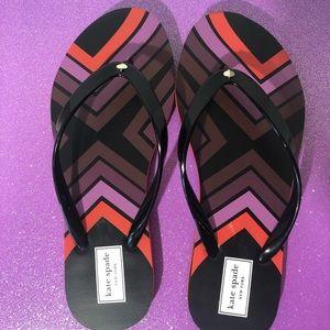 Kate Spade Nanette Aztec Flip Lops Size 7